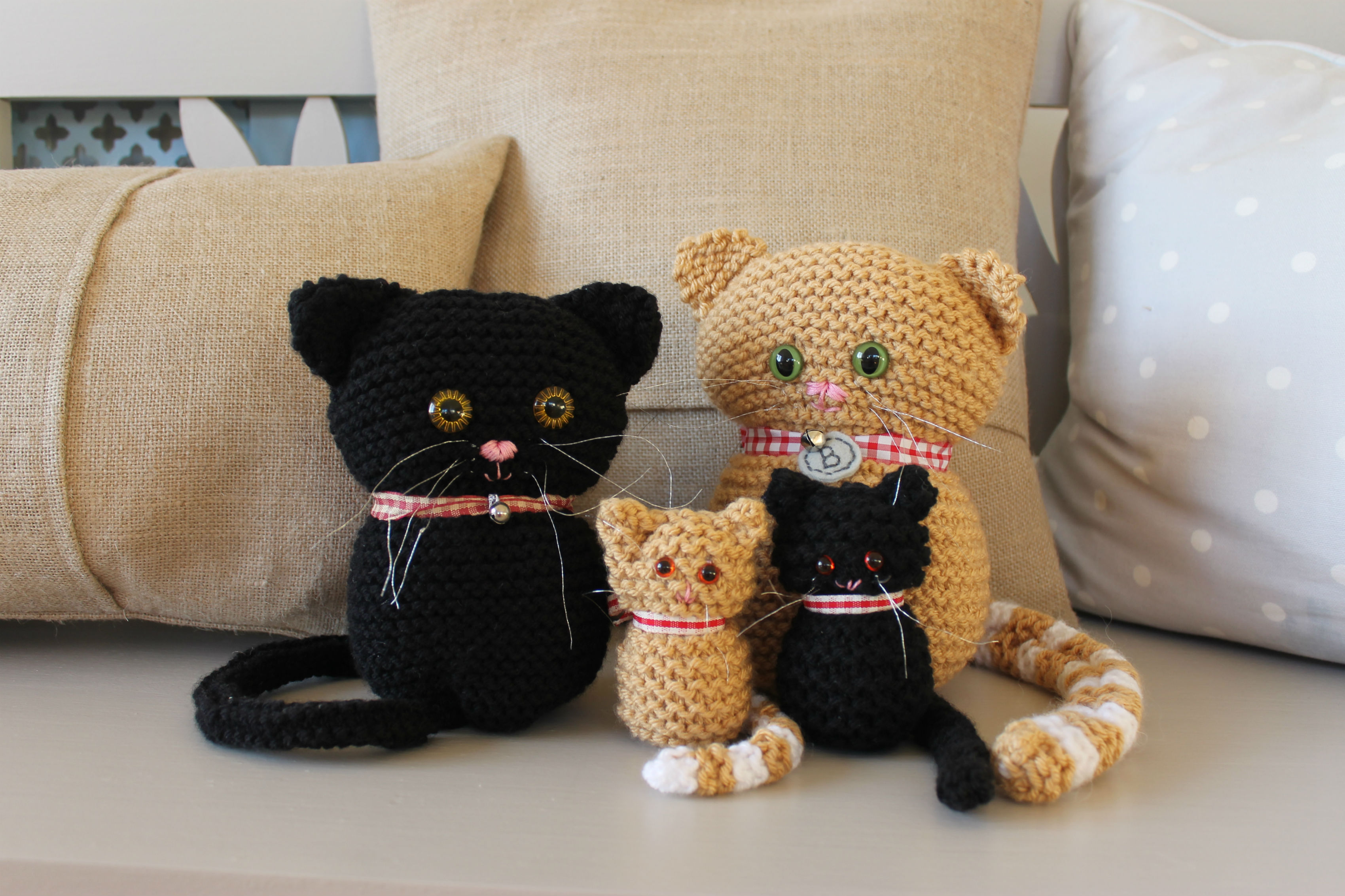 Cats And Kittens Knitting Pattern on Luulla